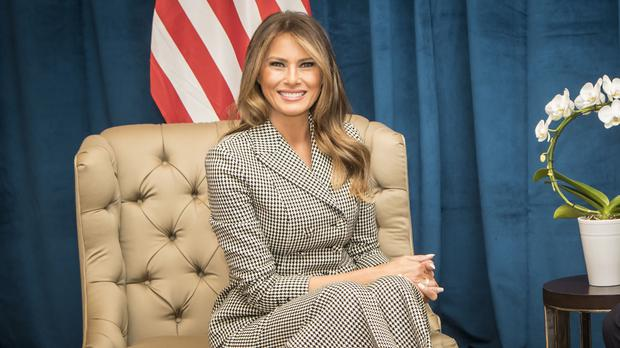 Melania Trump has made her first public appearance in 24 days (Danny Lawson/PA)