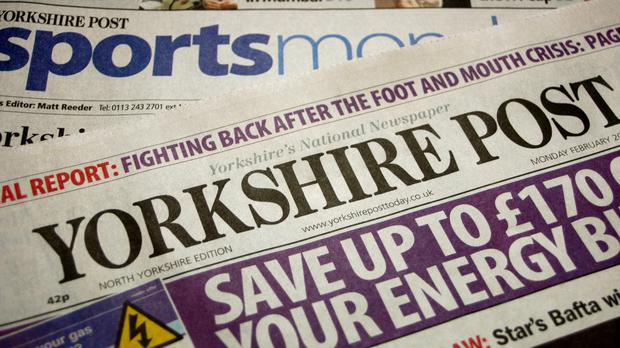 Johnston Press, which owns more than 200 local and regional newspapers in Britain including 'The Scotsman' and 'The Yorkshire Post', said trading had been 'extremely challenging' in the first five months of the year, with revenue down 9pc. (PA)