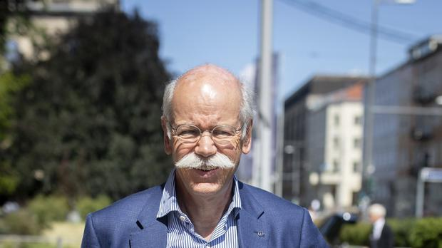Dieter Zetsche, CEO of German car maker Daimler arrives for a meeting at Germany's Traffic and Infrastructure Ministry in Berlin (AP)