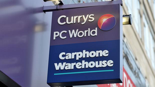 A branch Currys PC World, with a Carphone Warehouse inside (Nick Ansell/PA)
