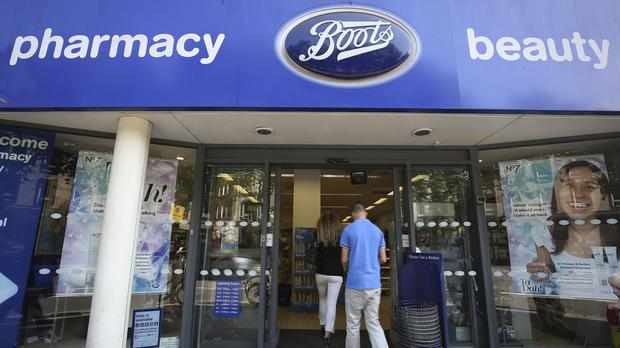 Pre-tax profits dropped to €21.55m last year at the Irish arm of pharmacy retailer Boots, in spite of revenues continuing to rise. (Philip Toscano/PA)