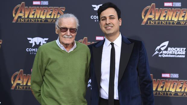 Stan Lee and Keya Morgan (Jordan Strauss/Invision/AP)