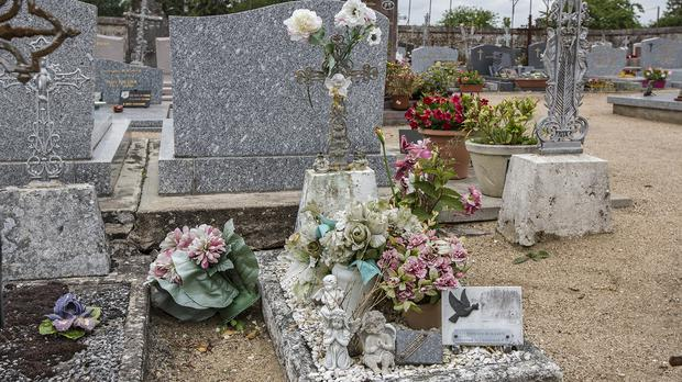 The grave of the girl found dead in a ditch along the A10 (AP)