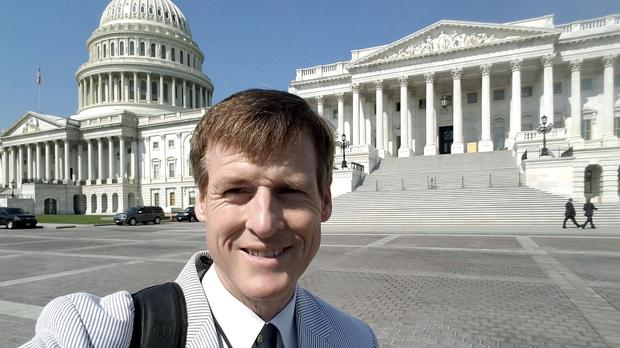 Radio reporter Jamie Dupree lost his voice two years ago (Jamie Dupree via AP)