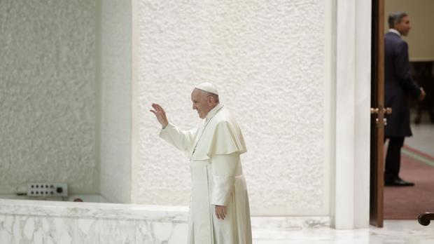 Pope Francis leaves after an audience at the Vatican (Alessandro Tarantino/AP)
