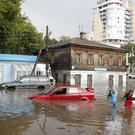 A flooded street in Nizhny Novgorod (AP Photo/Petr David Josek)