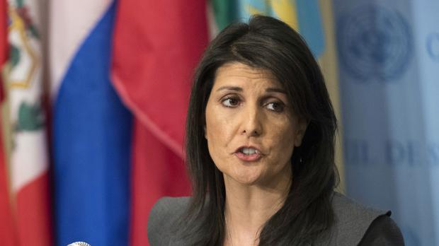 Nikki Haley announced the decision to withdraw (Mary Altaffer/AP)