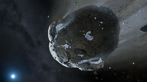 Artist's impression of an asteroid (Mark A. Garlick/PA)