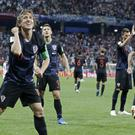 Croatia celebrate (AP Photo/Ricardo Mazalan)