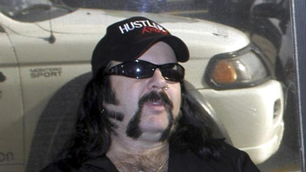 Vinnie Paul Abbott, co-founder and drummer of metal band Pantera, has died at 54. (AP/Ralph Duke)