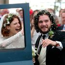 Rose Leslie and Kit Harington after their wedding. Photo: PA