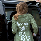 Wearing words: Melania's jacket caused a controversy. Photo: AP