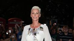 Brigitte Nielsen and her partner said they were 'overjoyed' at the birth of their daughter (Yui Mok/PA)