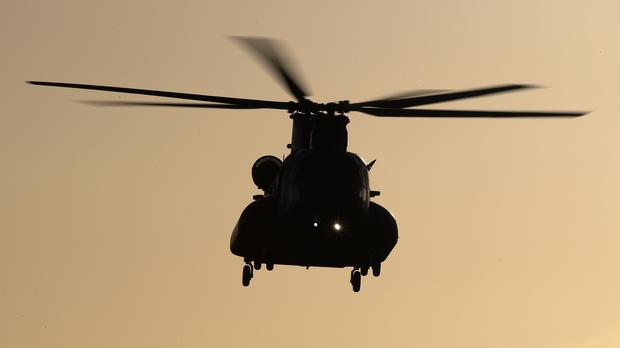 French police have begun a manhunt after the helicopter escape (Andrew Matthews/PA)