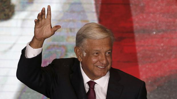 Presidential election winner Andres Manuel Lopez Obrador vowed that profound change is coming as he claimed victory (AP/Marco Ugarte)