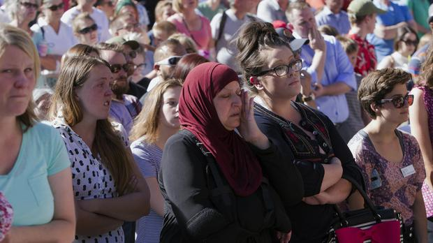 A vigil has been held following a stabbing incident in Boise, Idaho (Darin Oswald/Idaho Statesman via AP)