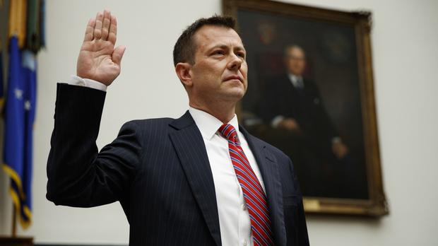 FBI deputy assistant director Peter Strzok on Capitol Hill in Washington (Evan Vucci/AP)