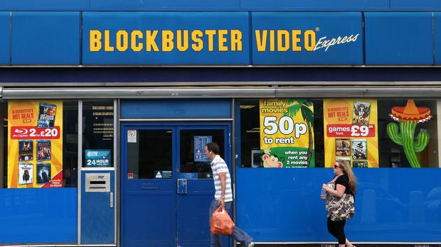 Blockbuster was once a familiar sight on streets on both sides of the Atlantic (Katie Collins/PA)