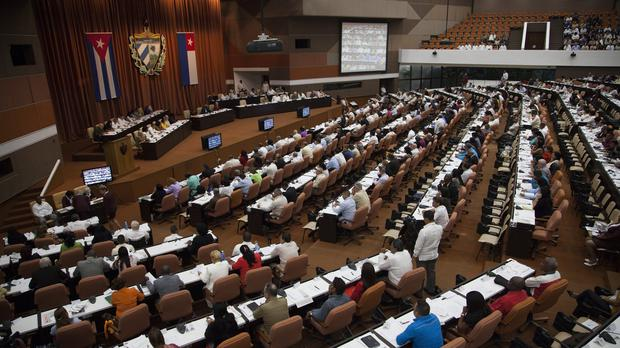 The National Assembly meet for their biannual legislative session, in Havana (Ladyrene Perez, Cubadebate/AP)