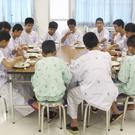 Some of the rescued players in hospital (Thailand's Ministry of Health and the Chiang Rai Prachanukroh Hospital, via AP)