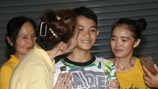 Duangpetch Promthep, one of the boys rescued from the flooded cave in northern Thailand (AP)