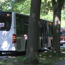 A view of the bus where the attack took place (AP)