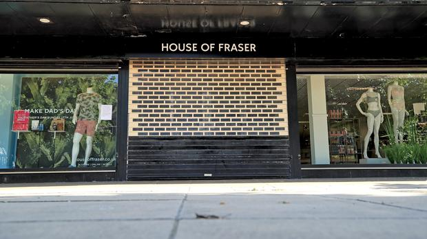 House of Fraser's boss has described the store closure plan as its last viable option (Peter Byrne/PA)