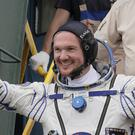 Alexander Gerst 'dropped in' for a live performance from the International Space Station (Andy Butterton/PA)
