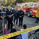 Mayor Eric Garcetti speaks during a news conference about the incident at a Trader Joe's supermarket (AP Photo/Damian Dovarganes)