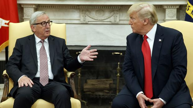 European Commission President Jean-Claude Juncker meets Donald Trump (Evan Vucci/AP)