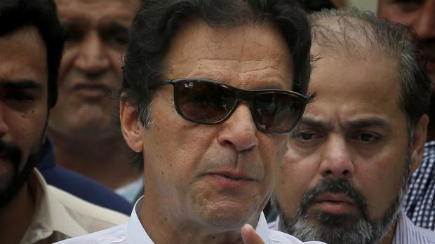 Imran Khan has claimed victory in the elections (Anjum Naveed/AP)
