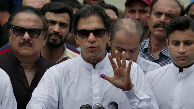Pakistani politician Imran Khan says he has won the election (Anjum Naveed/AP)