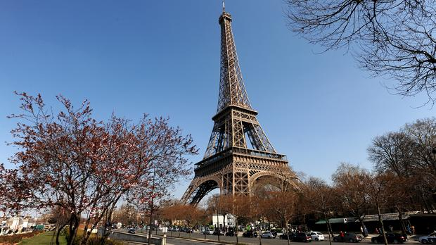 The Eiffel Tower had more than six million visitors last year (Andrew Matthews/PA)