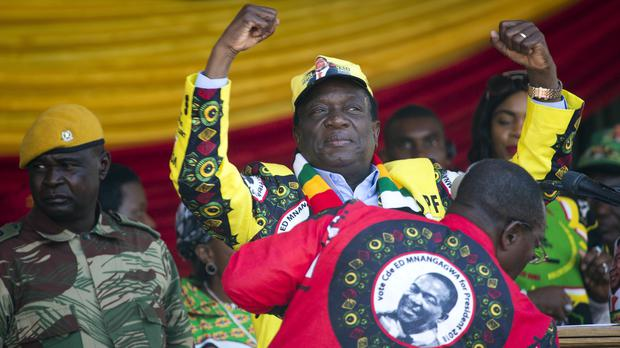 President Emmerson Mnangagwa leads election returns with nine of 10 provinces announced (Jerome Delay/AP)
