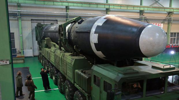 North Korea is continuing its missile and nuclear programmes, the UN said (Korean Central News Agency/Korea News Service/AP)