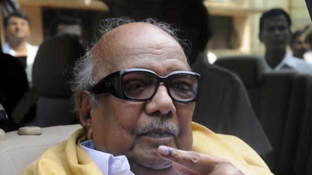 Muthuvel Karunanidhi has died at the age of 94 (AP)
