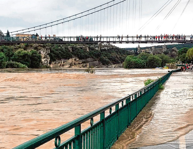 The Ardèche river in southern France which burst its banks. Photo: PA