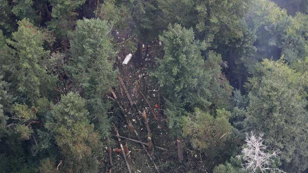 The site on Ketron Island where the plane crashed (Ted S. Warren/AP)