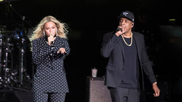 """Beyonce thanked Aretha Franklin for her """"beautiful music"""" during a concert in Detroit (Matt Rourke/AP)"""