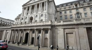The Bank of England in London. Photo: PA