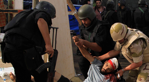 The scenes in Cairo's Rabaa square five years ago, when the Egyptian army fired on demonstrators, leaving 800 dead in an act described by Human Rights Watch as a crime against humanity. Photo: Reuters