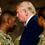 President Donald Trump meets troops at Fort Drum, New York. Photo: Getty Images