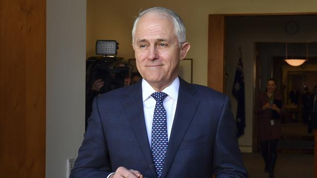 Prime Minister Malcolm Turnbull won 48 votes to 35 (Mick Tsikas/Pool/AP)