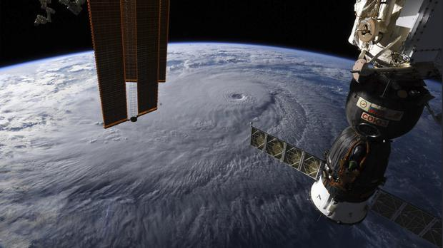 Hurricane Lane as seen from the International Space Station (Nasa/AP)