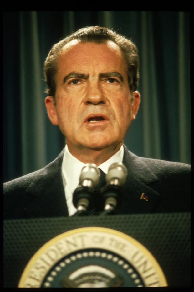 Richard Nixon resigned before House trial began.