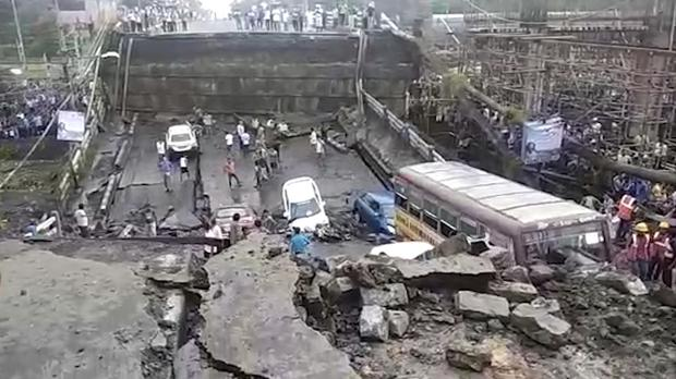 Motorway overpass collapses in India - Independent ie
