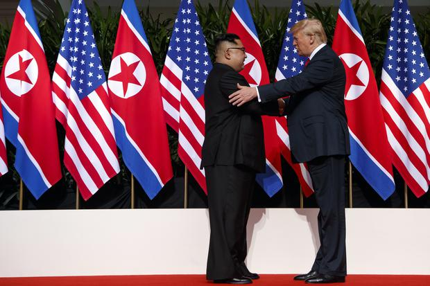 Donald Trump met with Kim Jong Un on Sentosa Island, in Singapore, in June (Evan Vucci/AP)