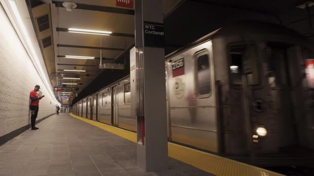 The newly-opened WTC Cortlandt subway station in New York (Patrick Sison/AP)