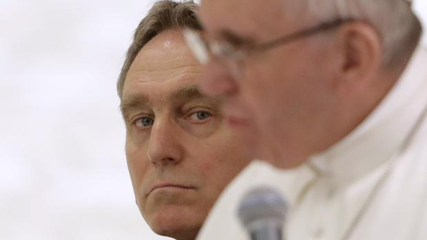 Georg Gaenswein, left, with Pope Francis (AP Photo/Andrew Medichini)