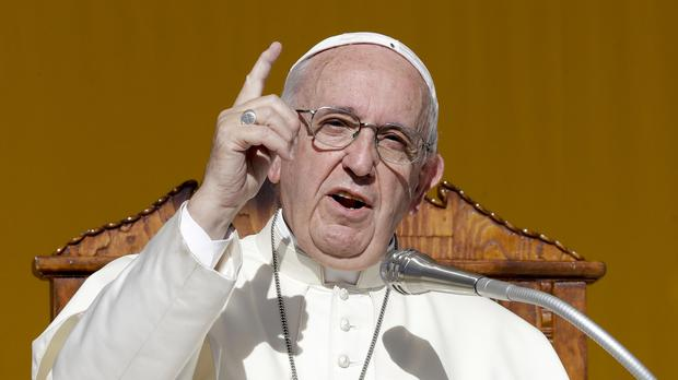 Pope Francis urged those in the mafia to turn their backs on organised crime (AP Photo/Andrew Medichini)